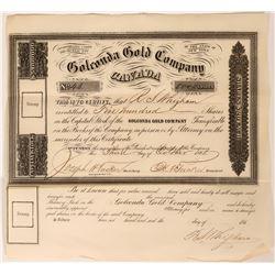 Golconda Gold Company Canada Stock Certificate  (119595)