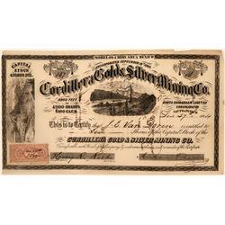Cordillera Gold & Silver Mining Co. Stock Certificate  (116708)