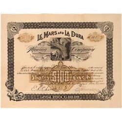Le Mars and La Dura Mining Stock, Sierra Madras, Mexico, 1892  (118601)