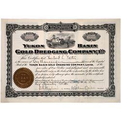 Yukon Basin Gold Dredging Company Stock, 1910  (118640)