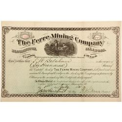 Ferre Mining Company Stock Certificate  (60677)