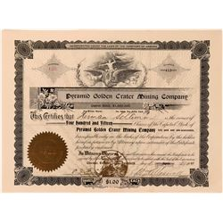 Pyramid Golden Crater Mining Company Stock Certificate  (118593)