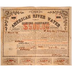 American River Water & Mining Company Bond  (107482)
