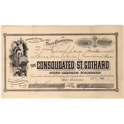 Consolidated St. Gothard Gold Mining Co Stock, Grizzly Ridge, Nevada Co. Cal.  (111779)