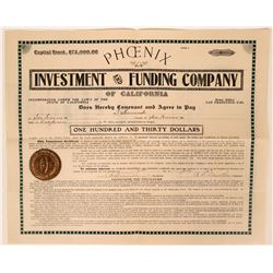 Phoenix Investment & Funding Co. Gold Coin Bond, San Francisco, Cal. 1904  (111799)