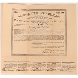 Happy Jack Gold & Silver Mining Company Bond  (118604)