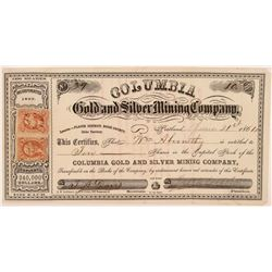 Columbia Gold and Silver MC Stock  (108204)