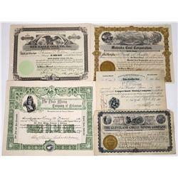 Southern Mining Stocks (5)  (118635)