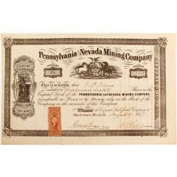 Pennsylvania and Nevada Mining Company Stock  (85202)