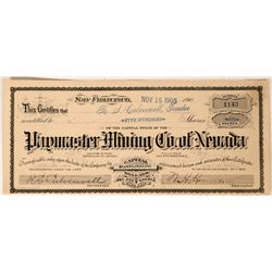 Paymaster Mining Company of Nevada Stock, Esmeralda County, Nevada  (111807)