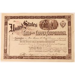 United States Gold & Copper Stock, Humboldt Co. Nevada, 1907  (118595)