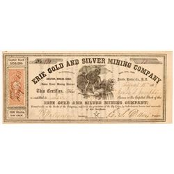 Erie Gold & Silver Mining Company Stock Certificate  (107053)
