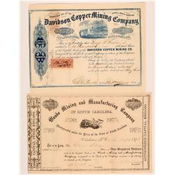 North Carolina and South Carolina Mining Stocks  (117891)