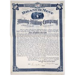 Branch Mint Mining & Milling Bond  (118657)