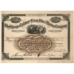 Chicago Calumet and Frisco Silver Mining Co Stock, Utah, 1883  (119593)