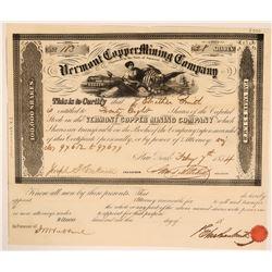 Vermont Copper Mining Company Stock  (119769)