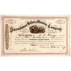 International Silver Mining Company Stock Certificate  (81070)