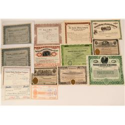 Mining Stock Certificate Collection - Mostly Nevada  (123182)