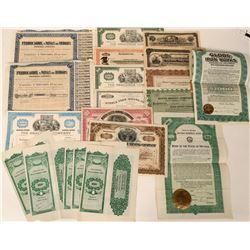 Mining Stocks Various (Sunnyside, Middle Fork, Anaconda, NV Highway Bond, Butte Copper)  (125570)