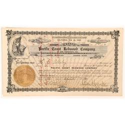 Pacific Coast Redwood Stock, Mendocino County, California  (111945)