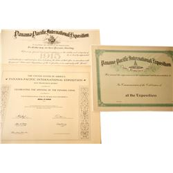 Pan Pacific Certificates (3 Large, Unissued)  (85159)