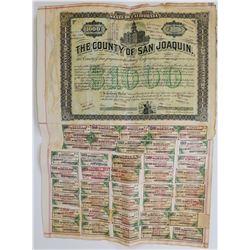 San Juaquin County Bond 1887  (125802)