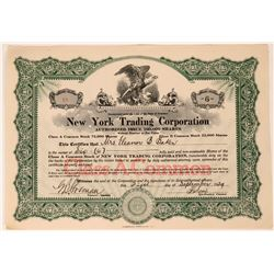 New York Trading Co. Stock Issued Two Days After 1929 Market Peak  (111828)