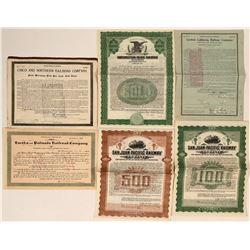 Rare California Railroad Bonds  (116938)
