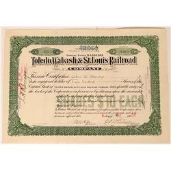 Toledo, Wabash & St. Louis Railroad Co Stock Certificate, 1907  (111827)