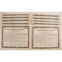 The South Pennsylvania Railroad Company Bond Certificates  (80518)