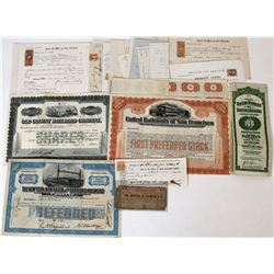 Railroad Stocks Bonds and Ephemera  (124332)