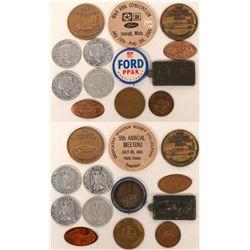 Ford Motors Promotional Medals (12)  (123079)