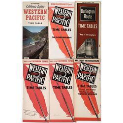 Western Pacific Railroad Time Tables (5)  (124286)