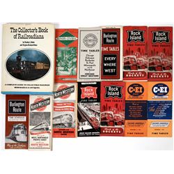 Chicago Area Railroad Time Tables and Collector's Book of Railroadiana  (124284)