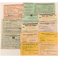 Railroad Passes for Mid-West Railroad lines  (108690)