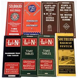 Southern Railroad Time Table Collection (8)  (124285)