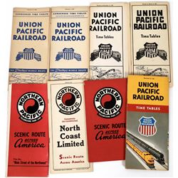 Union Pacific and Northern Pacific Railroad Time Tables 1937-1952  (124280)