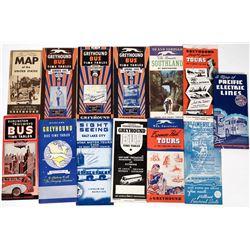 Greyhound & Burlington Trailways Bus Time Table Collection (13)  (124282)