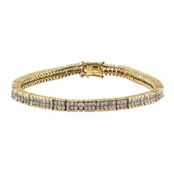 5.95 ctw Diamond Bracelet - 14KT Yellow Gold