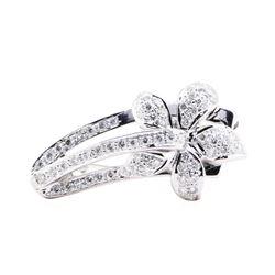 1.25 ctw Diamond Pendant-Pin - 18KT White Gold