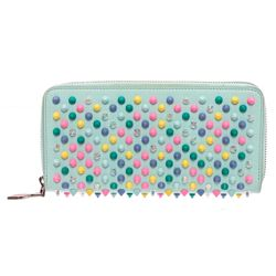 Christian Louboutin Sky Leather Panettone Studded Leather Wallet