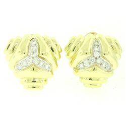 14kt Yellow Gold 1.80 ctw Diamond Triangular Earrings