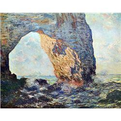 Claude Monet - The Rocky Cliffs of �tretat (La Porte Man) [1]