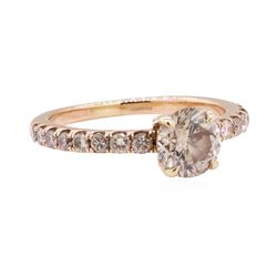 1.40 ctw Diamond Ring - 18KT Rose Gold