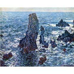 Claude Monet - Rocks on Belle-Ile (The Needles of Port-Coton)