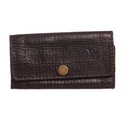 Louis Vuitton Brown Utah Leather 6 Key Holder Wallet