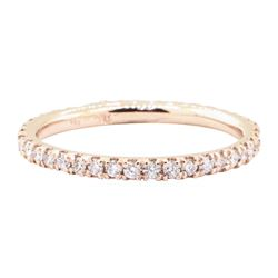 0.60 ctw Diamond Eternity Ring - 14KT Rose Gold