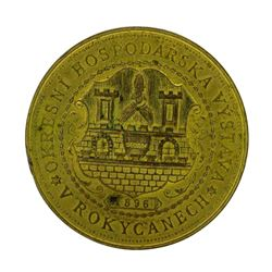1896 Czechoslovakia Gilt Bronze Exhibition Medal