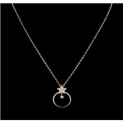 0.21 ctw Diamond Necklace - 14KT Rose Gold