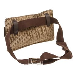 Christian Dior Brown Canvas Trotter Waist Belt Bag